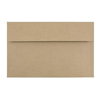 JAM Paper® A10 Invitation Envelopes, 6 x 9.5, Brown Kraft Paper Bag Recycled, 25/pack (LEKR850)