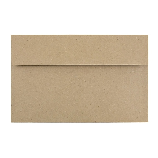 JAM Paper® A10 Invitation Envelopes, 6 x 9.5, Brown Kraft Paper Bag, Bulk 250/Box (LEKR850H)