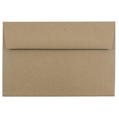 JAM Paper® A9 Invitation Envelopes, 5.75 x 8.75, Brown Kraft Paper Bag Recycled, 1000/carton (LEKR875B)