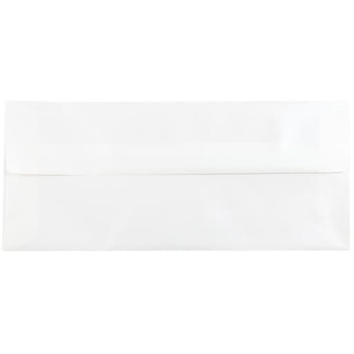 JAM Paper® #10 Business Translucent Vellum Envelopes, 4.125 x 9.5, Platinum Silver, Bulk 500/Box (PACV366H)
