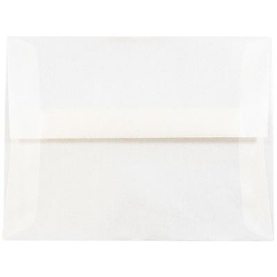 JAM Paper® A2 Invitation Envelopes, 4 3/8 x 5 3/4, Platinum Translucent Vellum, 50/pack (PACV616I)