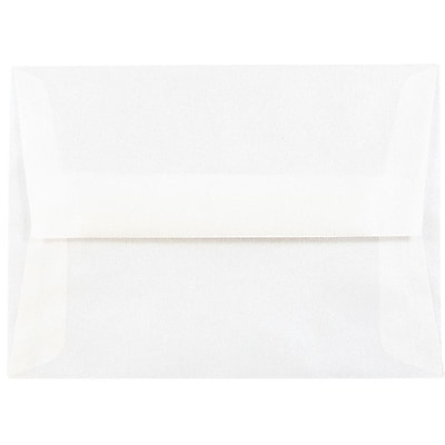 JAM Paper® A6 Invitation Envelopes, 4.75 x 6.5, Platinum Translucent Vellum, 25/pack (PACV666)