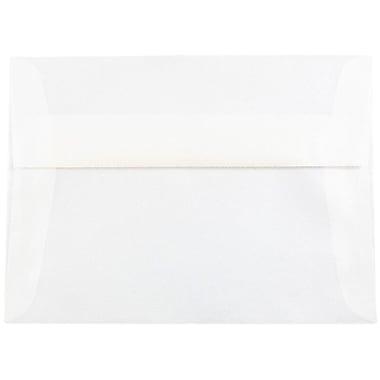 JAM Paper® A7 Invitation Envelopes, 5.25 x 7.25, Platinum Translucent Vellum, 25/pack (PACV716)