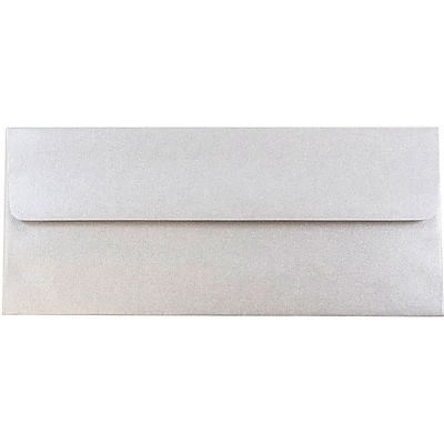 JAM Paper® #10 Business Envelopes, 4 1/8 x 9 1/2, Stardream Metallic Silver, 50/pack (SD5360 06I)
