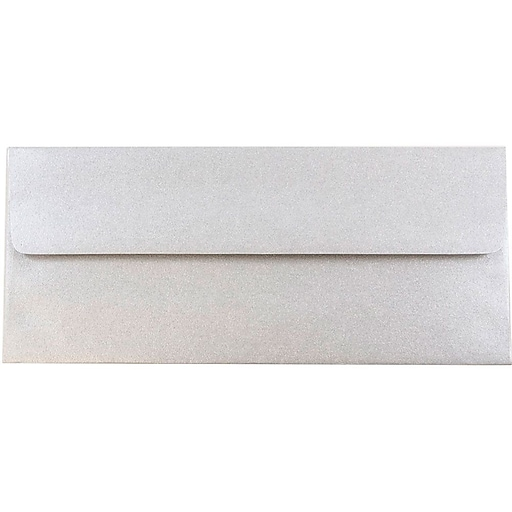 JAM Paper® #10 Metallic Business Envelopes, 4.125 x 9.5, Stardream Silver, Bulk 500/Box (SD5360 06H)