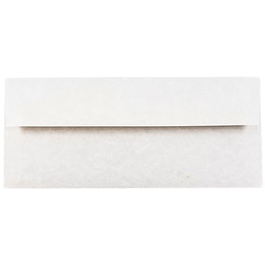 JAM Paper® #10 Business Envelopes, 4 1/8 x 9 1/2, Parchment Pewter Grey Recycled, 25/pack (V01726)