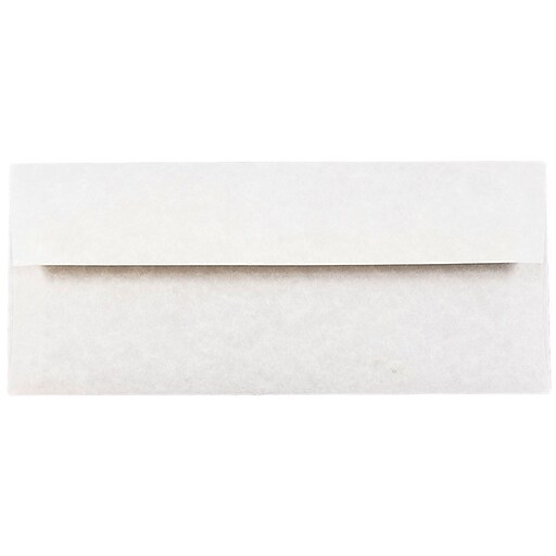 JAM Paper® #10 Parchment Business Envelopes, 4.125 x 9.5, Pewter Grey Recycled, 50/Pack (V01726I)