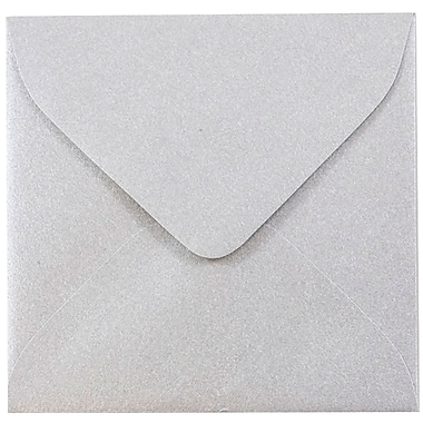 JAM Paper® 3.125 x 3.125 Mini Square Envelopes, Stardream Metallic Silver, 100/pack (V018239A)