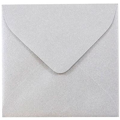 JAM Paper® 3.125 x 3.125 Mini Square Envelopes, Stardream Metallic Silver, 1000/carton (V018239B)