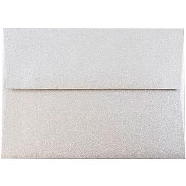JAM Paper® 4bar A1 Envelopes, 3 5/8 x 5 1/8, Stardream Metallic Silver, 1000/carton (V018243B)