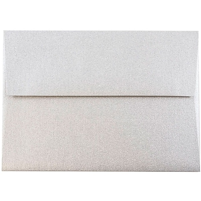 JAM Paper® 4bar A1 Envelopes, 3 5/8 x 5 1/8, Stardream Metallic Silver, 50/pack (V018243I)