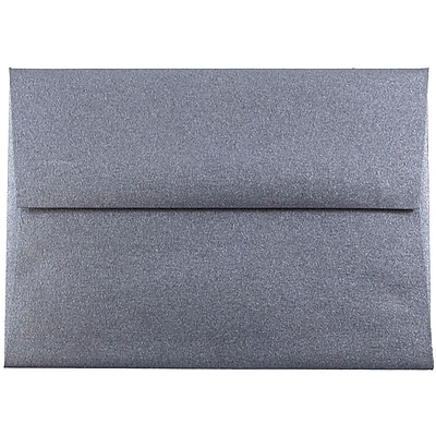 JAM Paper® 4bar A1 Envelopes, 3 5/8 x 5 1/8, Stardream Metallic Anthracite Black, 50/pack (V018245I)