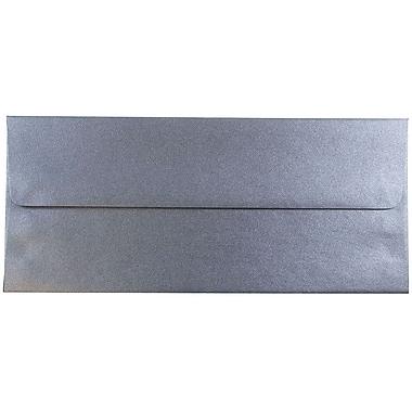 JAM Paper® #10 Policy Envelopes, 4 1/8 x 9 1/2, Stardream Metallic Anthracite Black, 25/pack (V018283)