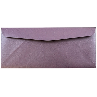 JAM Paper® #10 Business Envelopes, 4 1/8 x 9 1/2, Stardream Metallic Ruby Purple, 25/pack (V018288)