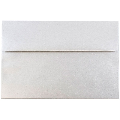 JAM Paper® A8 Invitation Envelopes, 5.5 x 8.125, Stardream Metallic Silver, 250/box (V018294H)