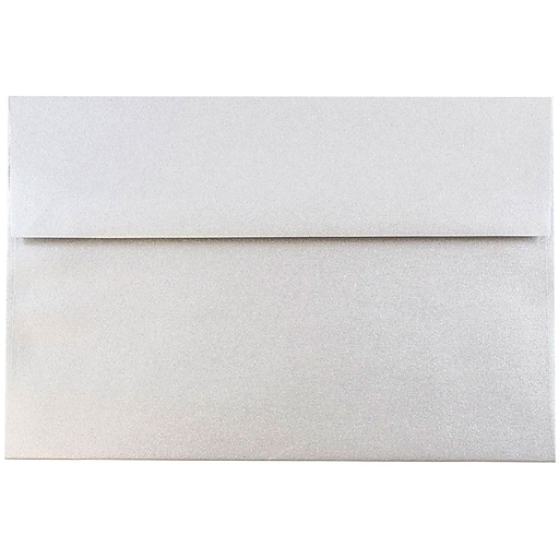 JAM Paper® A8 Metallic Invitation Envelopes, 5.5 x 8.125, Stardream Silver, Bulk 1000/Carton (V018294B)