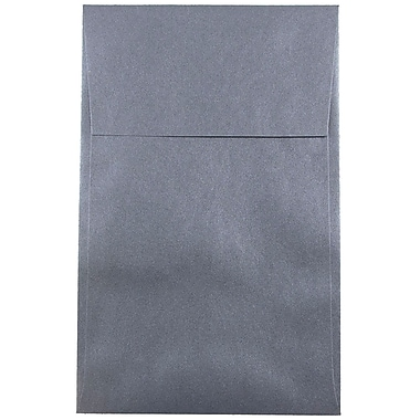 JAM Paper® A10 Policy Envelopes, 6 x 9.5, Stardream Metallic Anthracite Black, 25/pack (V018305)