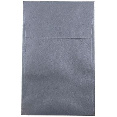 JAM Paper® A10 Policy Envelopes, 6 x 9.5, Stardream Metallic Anthracite Black, 50/pack (V018305I)