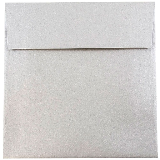 JAM Paper® 6 x 6 Square Metallic Invitation Envelopes, Stardream Silver, Bulk 250/Box (V018307H)