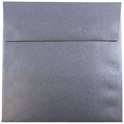 JAM Paper® 6 x 6 Square Envelopes, Stardream Metallic Anthracite Black, 50/pack (V018309I)