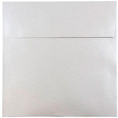JAM Paper® 8.5 x 8.5 Square Envelopes, Stardream Metallic Silver, 50/pack (V018318I)