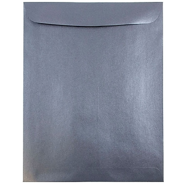 JAM Paper® 10 x 13 Open End Catalog Envelopes, Stardream Metallic Anthracite Black, 100/pack (V018326)