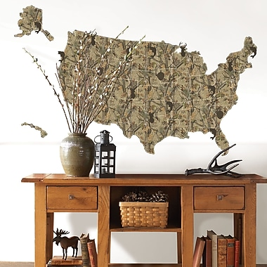 WallPops! Sportsman US Map Wall Decal
