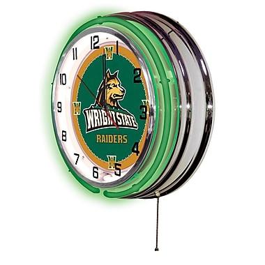 Holland Bar Stool NCAA 19'' Neon Clock; Wright State Raiders