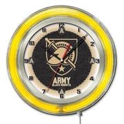 Holland Bar Stool NCAA 19'' Neon Clock; Army Black Knights