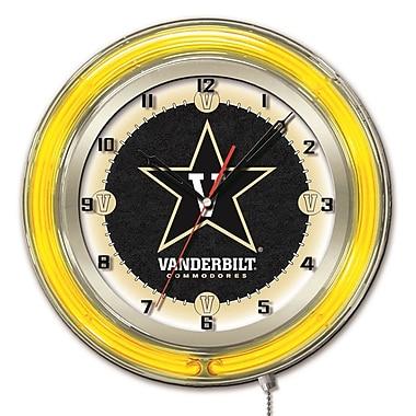 Holland Bar Stool NCAA 19'' Neon Clock; Vanderbilt Commodore