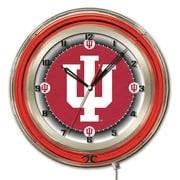 Holland Bar Stool NCAA 19'' Neon Clock; Indiana Hoosiers