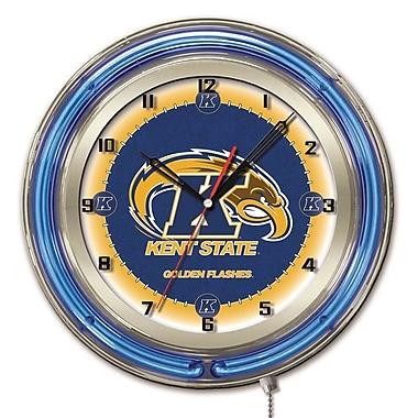 Holland Bar Stool NCAA 19'' Neon Clock; Kent State Golden Flashes
