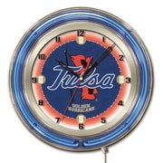 Holland Bar Stool NCAA 19'' Neon Clock; Tulsa Golden Hurricane