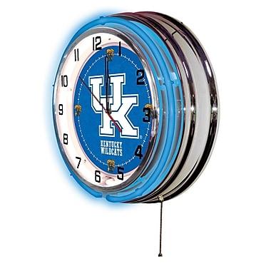 Holland Bar Stool NCAA 19'' Neon Clock; Kentucky Wildcats-UK
