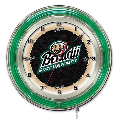 Holland Bar Stool NCAA 19'' Neon Clock; Bemidji State University
