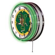 Holland Bar Stool NCAA 19'' Neon Clock; Vermont Catamounts