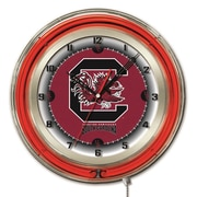 Holland Bar Stool NCAA 19'' Neon Clock; South Carolina Gamecocks