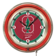 Holland Bar Stool NCAA 19'' Neon Clock; Stanford Cardinal