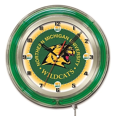 Holland Bar Stool NCAA 19'' Neon Clock; Northern Michigan University
