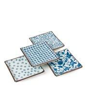 Miya Company 4-Piece Square Small Platter