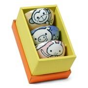 Miya Company 3 Piece 5 oz. Animal Rice Bowl Set (Set of 3)