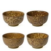 Miya Company 4 Piece Sepia 8 oz. Vines Bowl Set