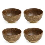 Miya Company Sepia 9 oz. Karakusa Bowl (Set of 4)