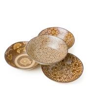 Miya Company 4 Piece Sepia 5 oz. Shallow Dessert Bowl Set