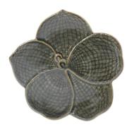 Novica Duangkamol Artisan Floral Celadon Ceramic Serving Tray