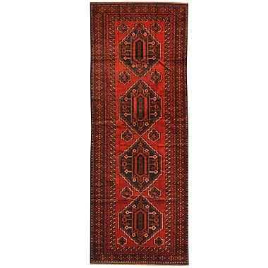 Herat Oriental Balouchi Hand-knotted Red/Navy Area Rug