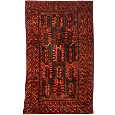 Herat Oriental Balouchi Hand-knotted Navy/Red Area Rug