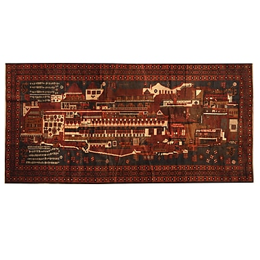 Herat Oriental Balouchi Hand-knotted Brown/Red Area Rug