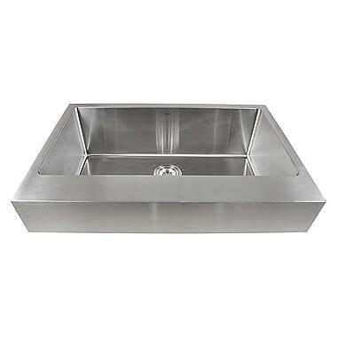 Nantucket Sinks Pro Series 32.5'' x 21.25'' Single Bowl Farmhouse Kitchen Sink