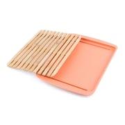 Peterson Housewares Inc. Cutting Board Lid w/ drop-through crumb; Orange